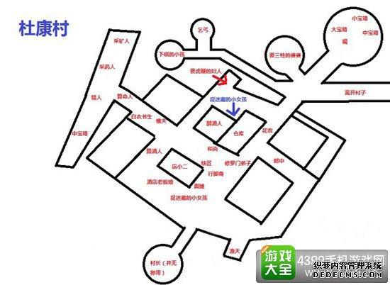 侠客风云传手游杜康村攻略――地图