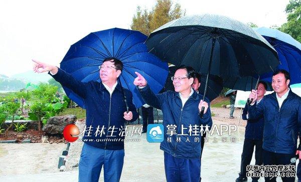 陈武实地检查漓江生态保护和修复工作(图)