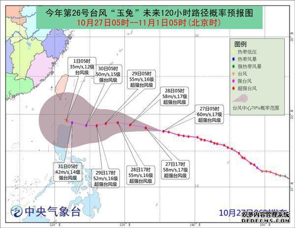 """超强台风""""玉兔""""29日前对中国近海海域无影响"""