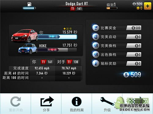 CSR赛车评测 可惜了如此华丽的画面