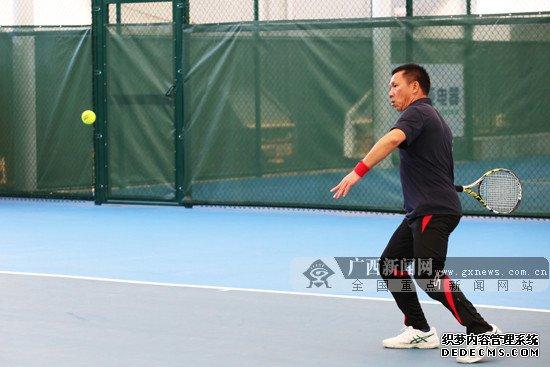 2019年第二届广西城市业余网球团体赛在南宁挥拍
